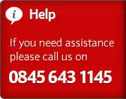 If you need assistance, please call us on 0845 643 1145